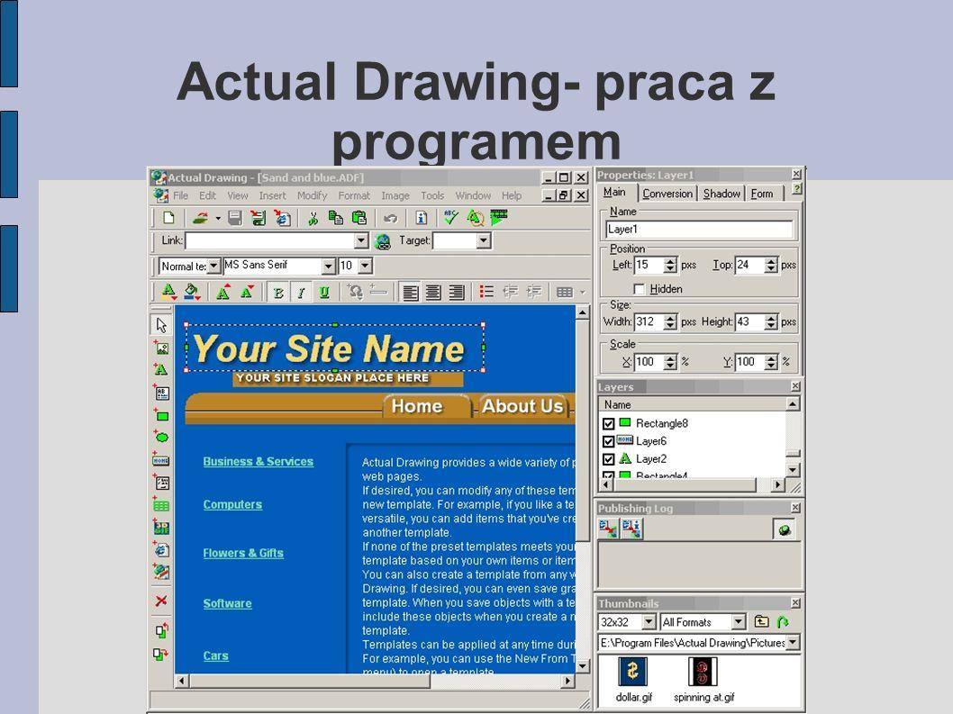 Actual Drawing- praca z programem
