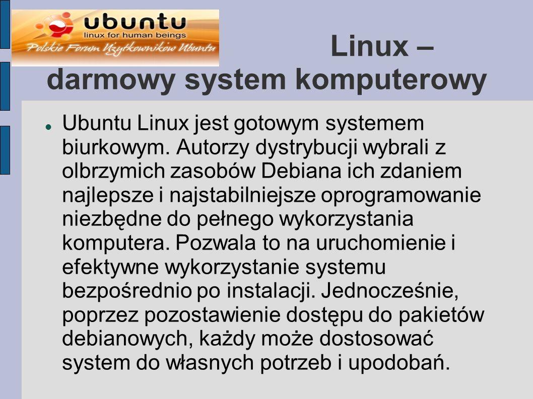 Linux – darmowy system komputerowy