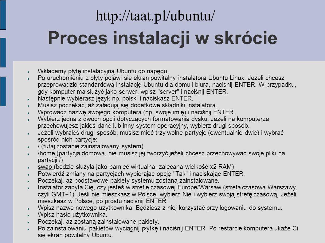 Proces instalacji w skrócie