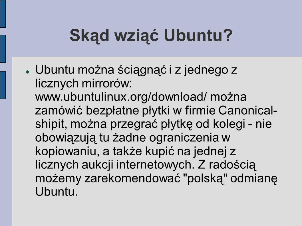 Skąd wziąć Ubuntu