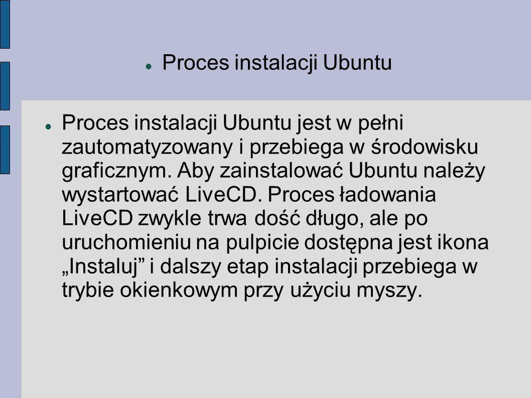 Proces instalacji Ubuntu