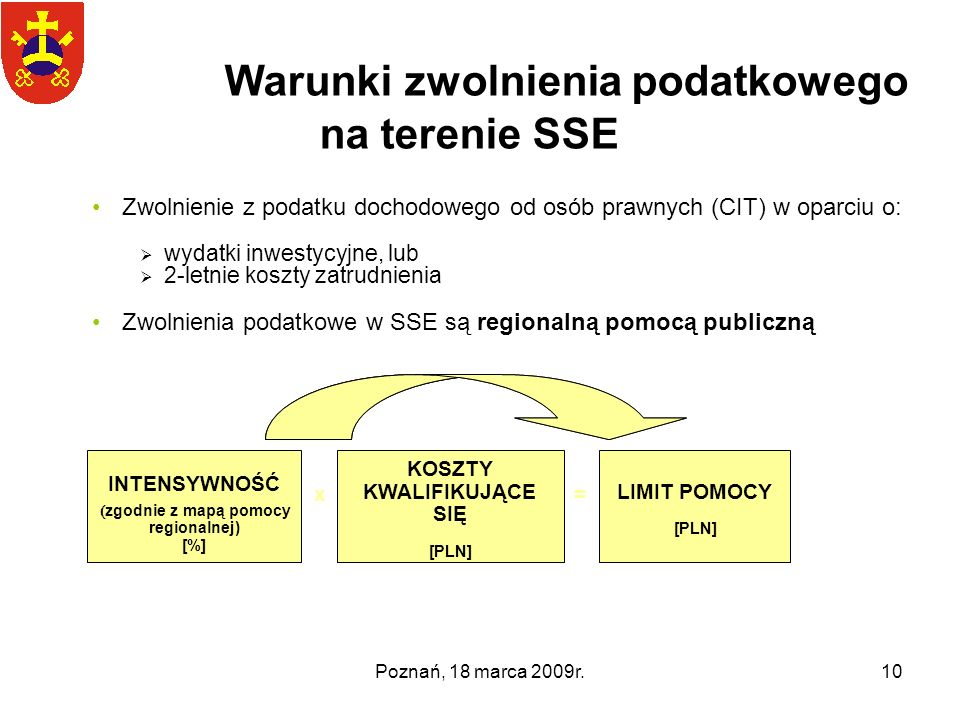 Warunki zwolnienia podatkowego na terenie SSE