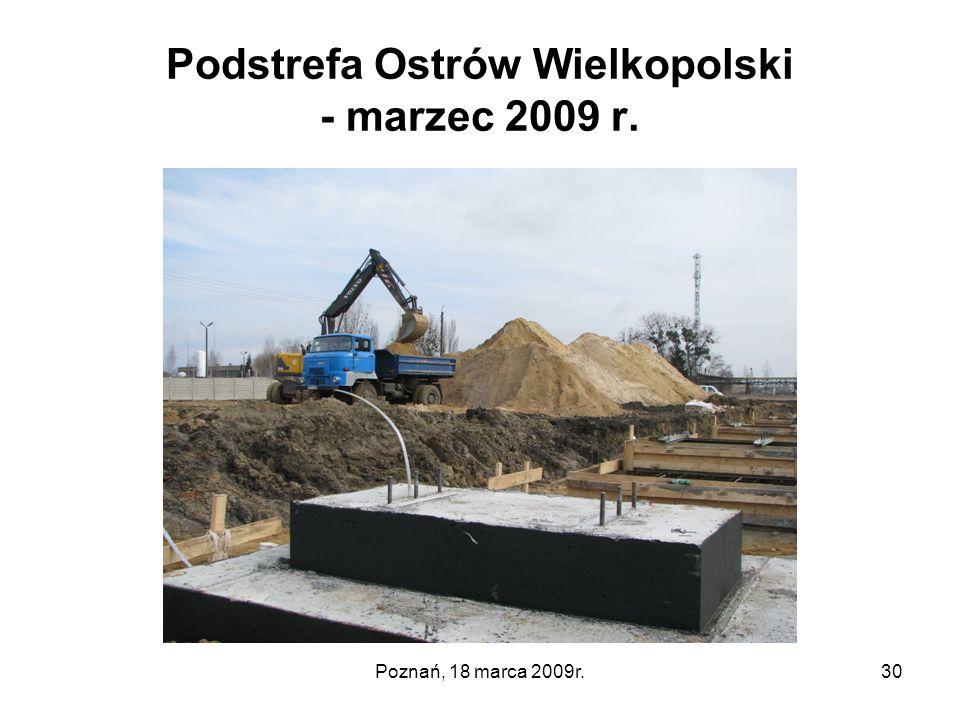 Podstrefa Ostrów Wielkopolski - marzec 2009 r.