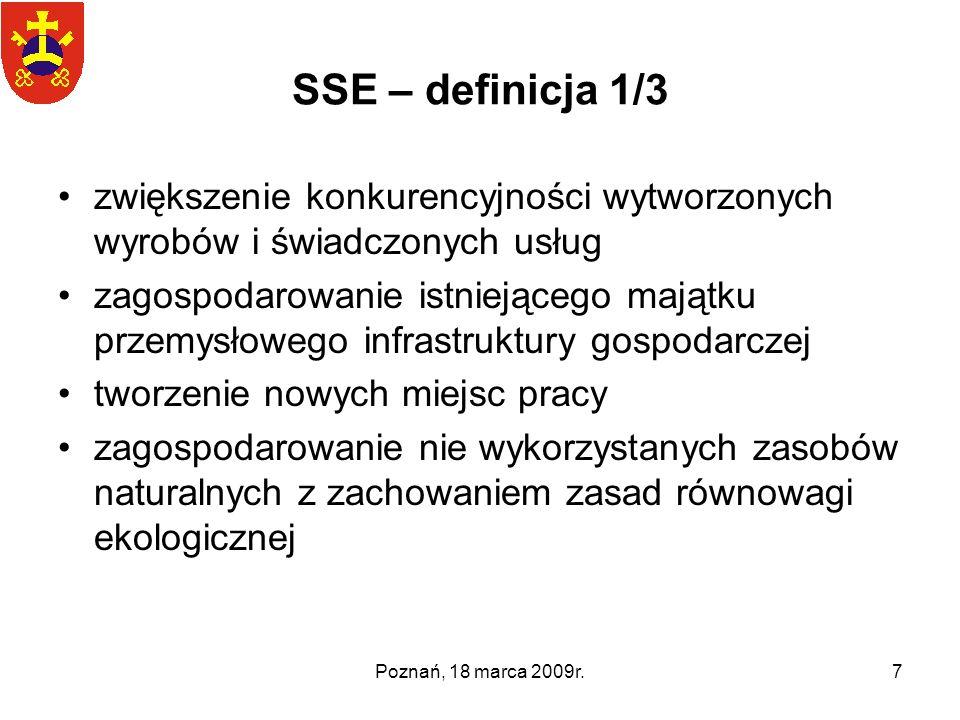 SSE – definicja 1/3 zwiększenie konkurencyjności wytworzonych wyrobów i świadczonych usług.