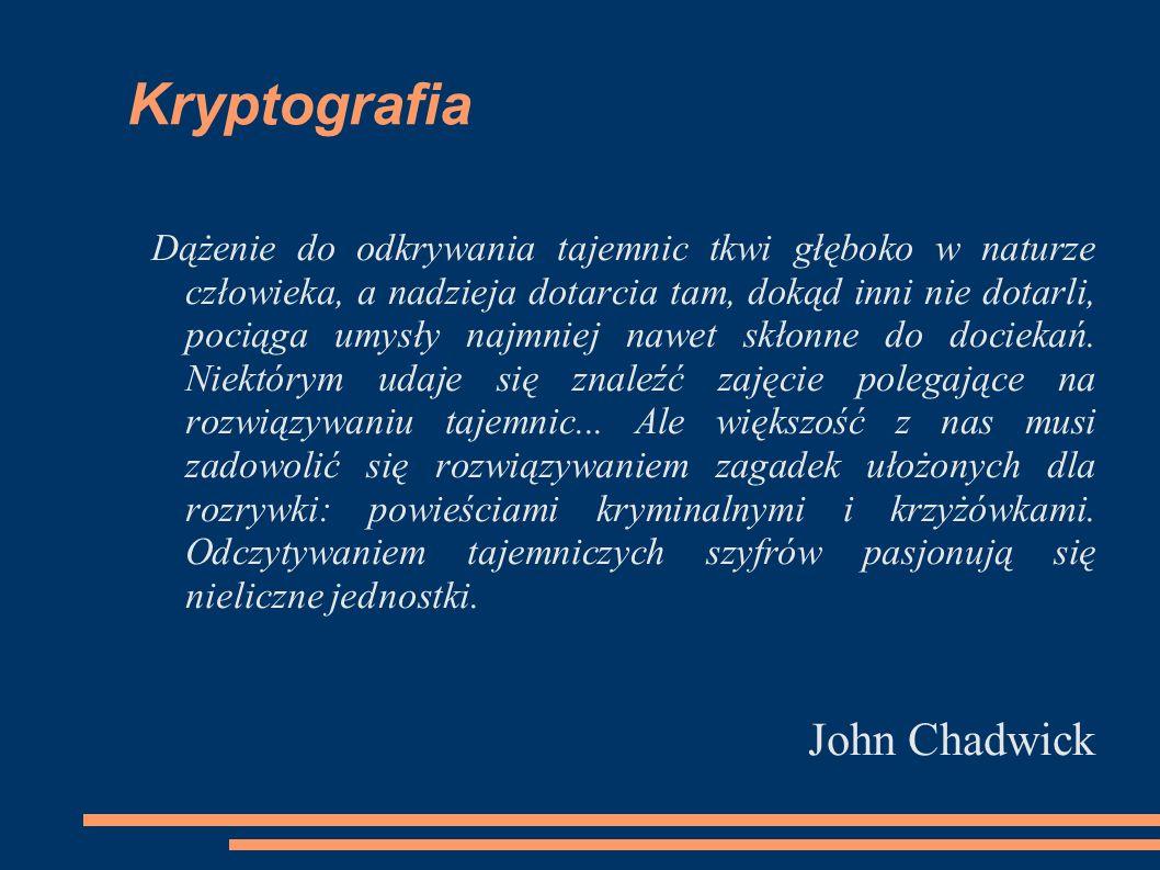 Kryptografia John Chadwick
