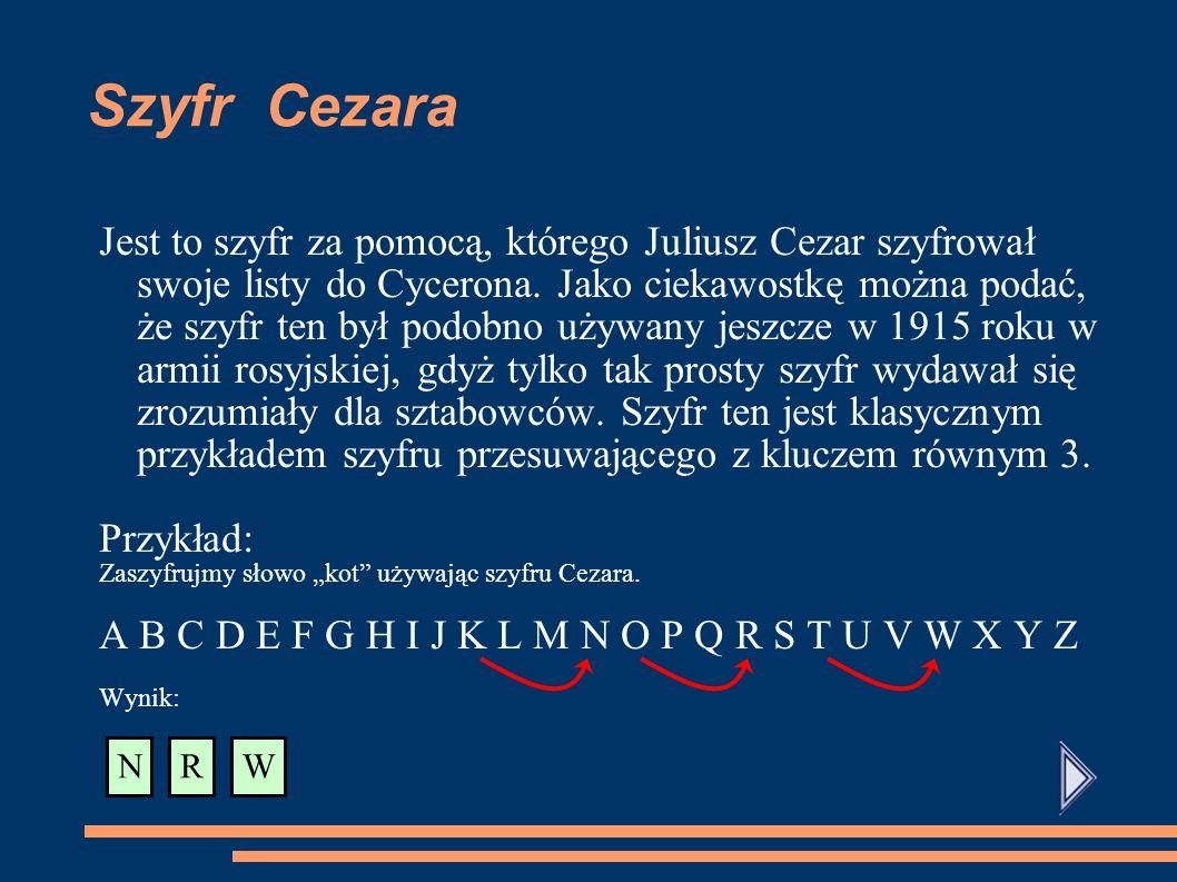 Szyfr Cezara