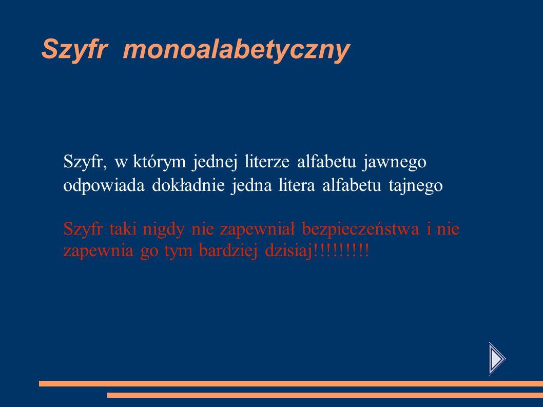 Szyfr monoalabetyczny