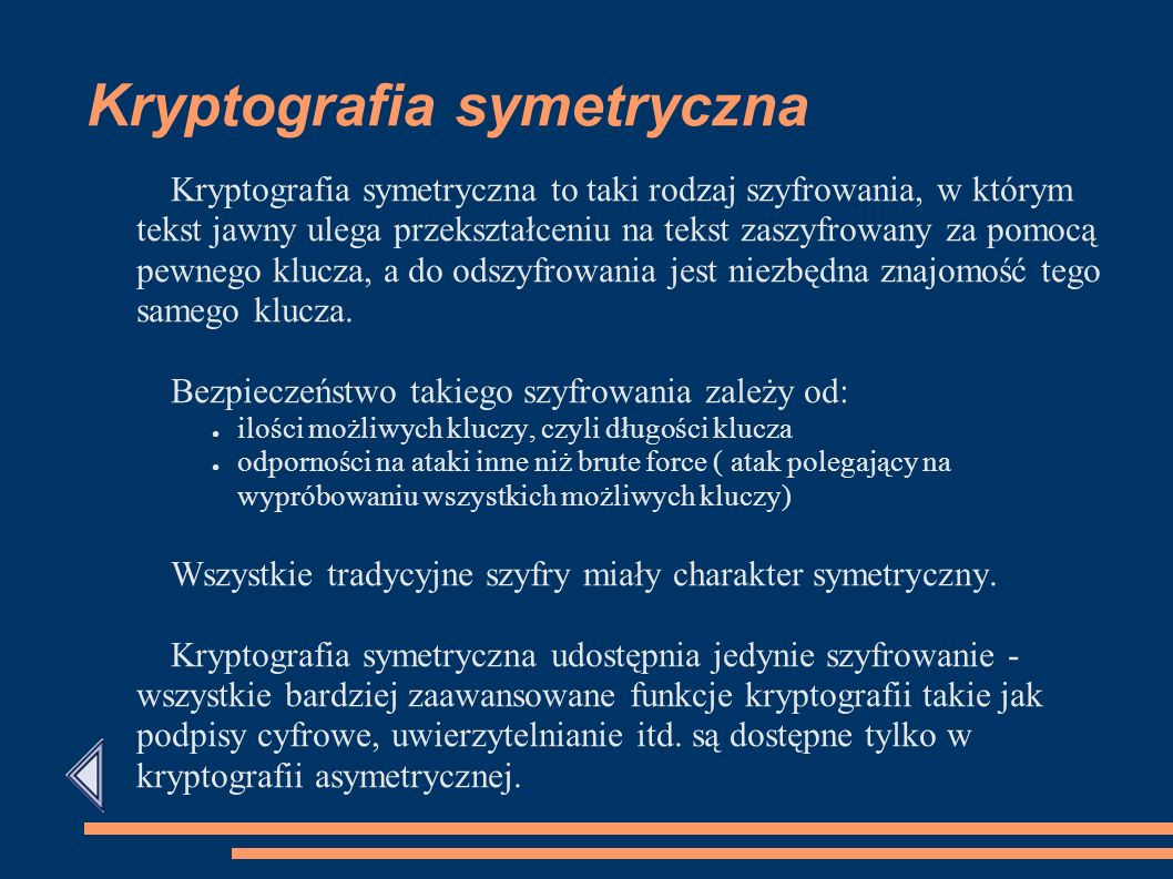 Kryptografia symetryczna