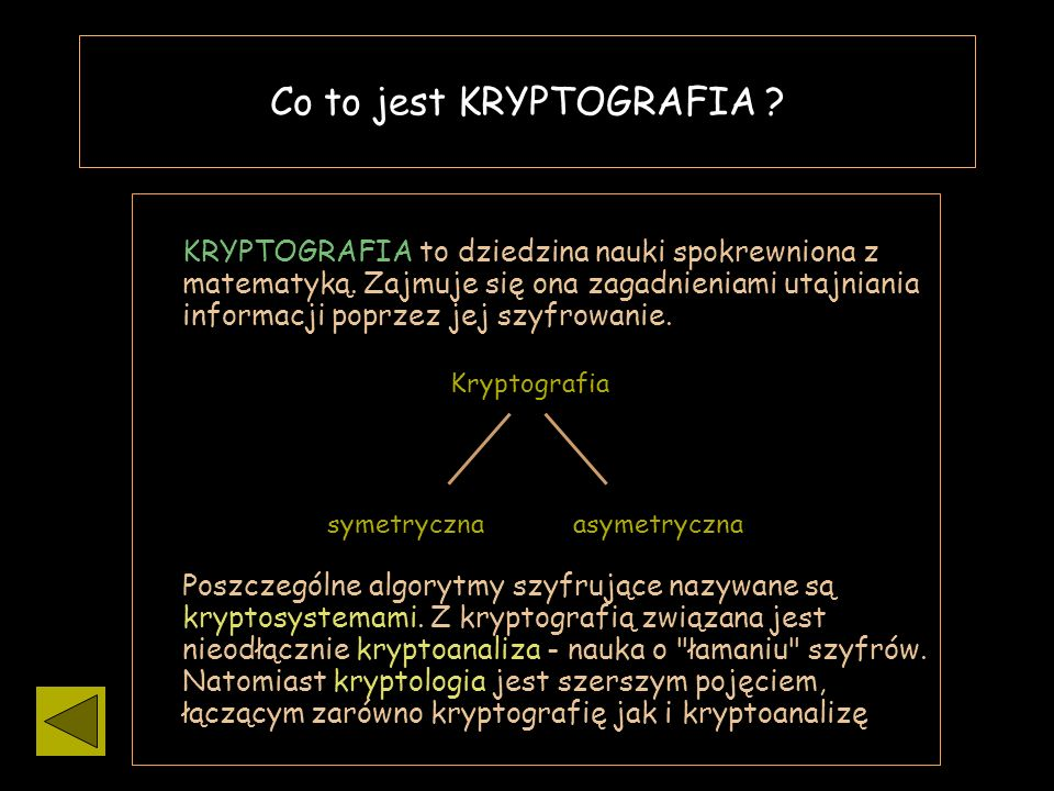 Co to jest KRYPTOGRAFIA