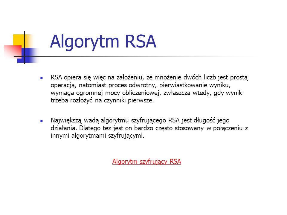 Algorytm szyfrujący RSA