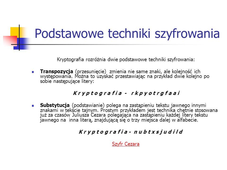 Podstawowe techniki szyfrowania