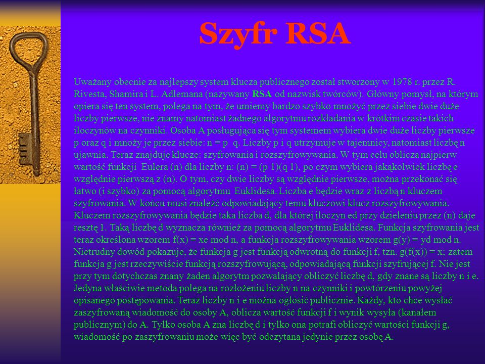 Szyfr RSA