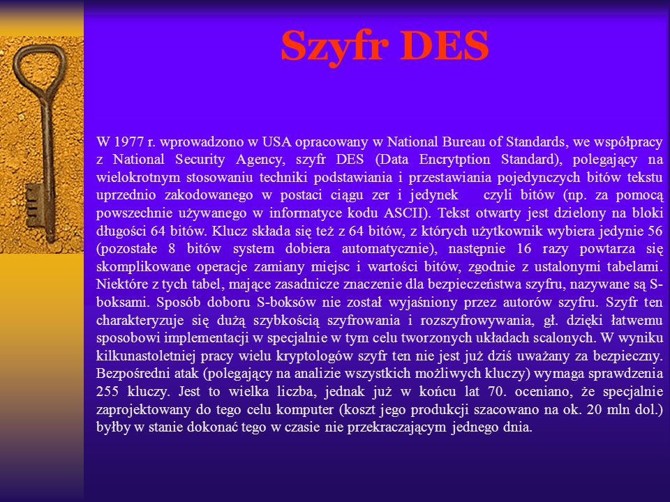 Szyfr DES