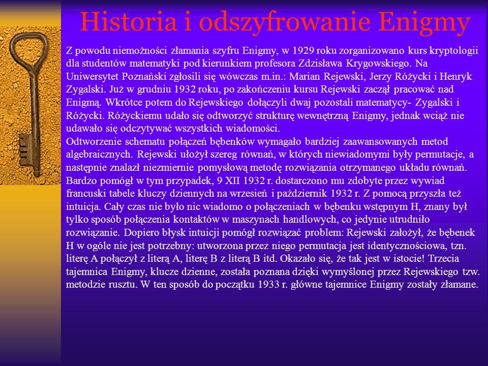 Historia i odszyfrowanie Enigmy