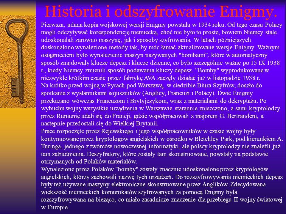Historia i odszyfrowanie Enigmy.