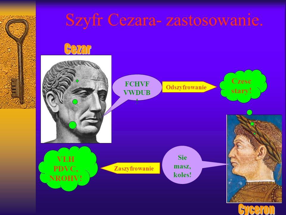 Szyfr Cezara- zastosowanie.