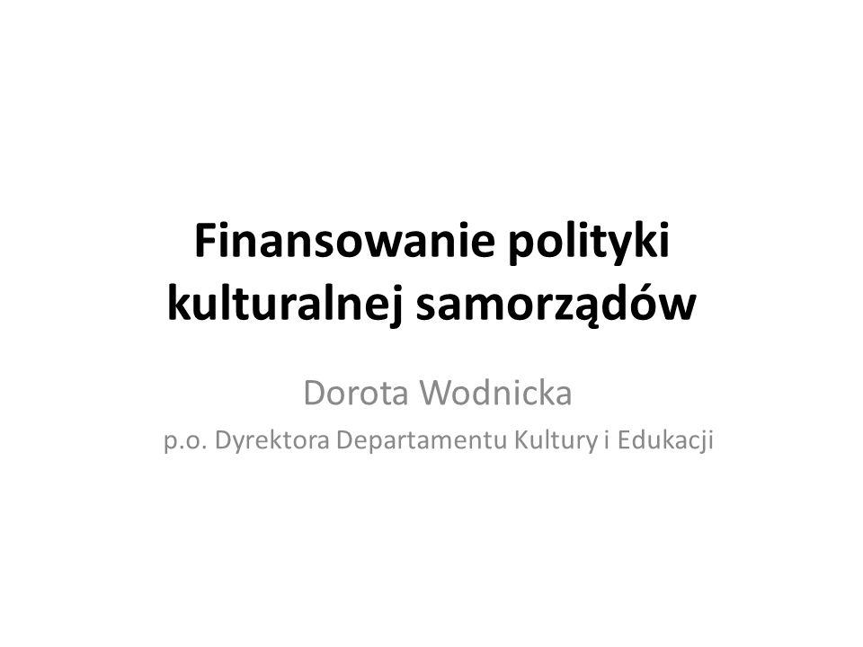 Finansowanie polityki kulturalnej samorządów
