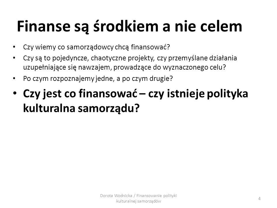 Finanse są środkiem a nie celem