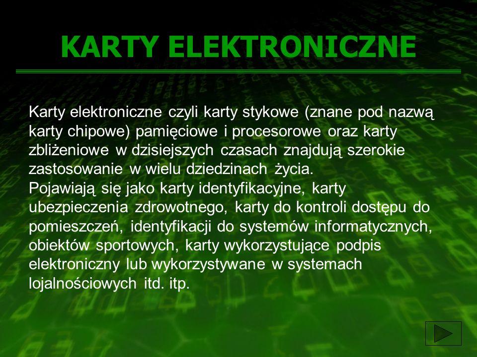 KARTY ELEKTRONICZNE