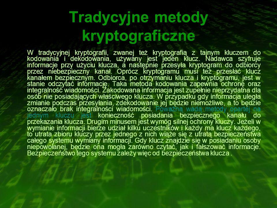 Tradycyjne metody kryptograficzne