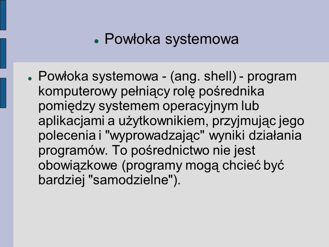 Powłoka systemowa