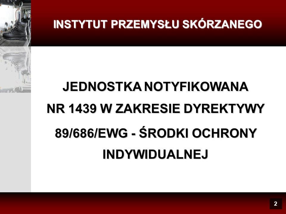 JEDNOSTKA NOTYFIKOWANA NR 1439 W ZAKRESIE DYREKTYWY