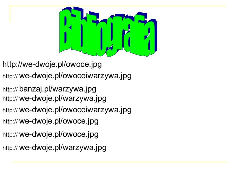 Bibliografia http://we-dwoje.pl/owoce.jpg