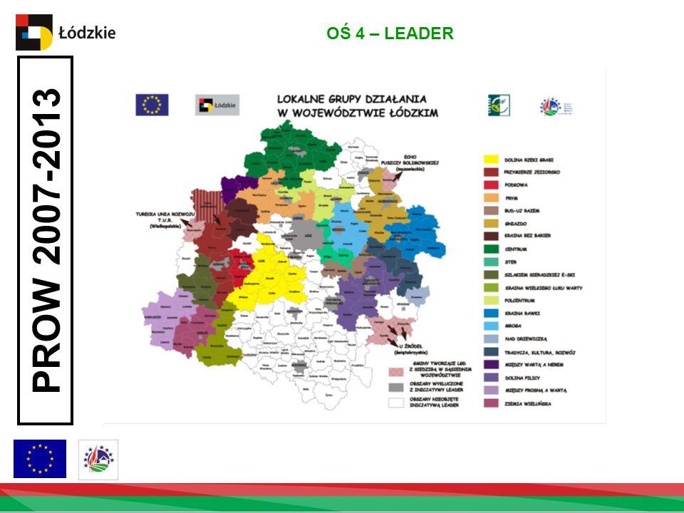 OŚ 4 – LEADER PROW 2007-2013