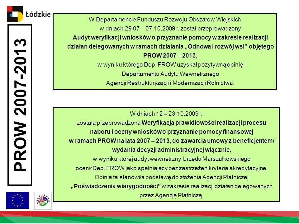 W Departamencie Funduszu Rozwoju Obszarów Wiejskich w dniach 29