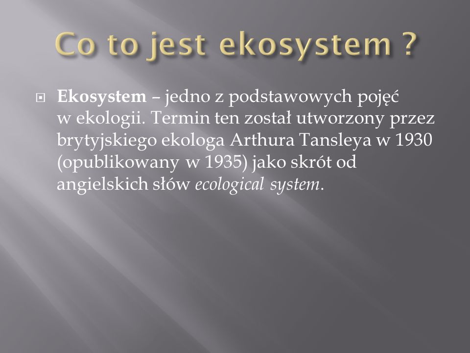 Co to jest ekosystem