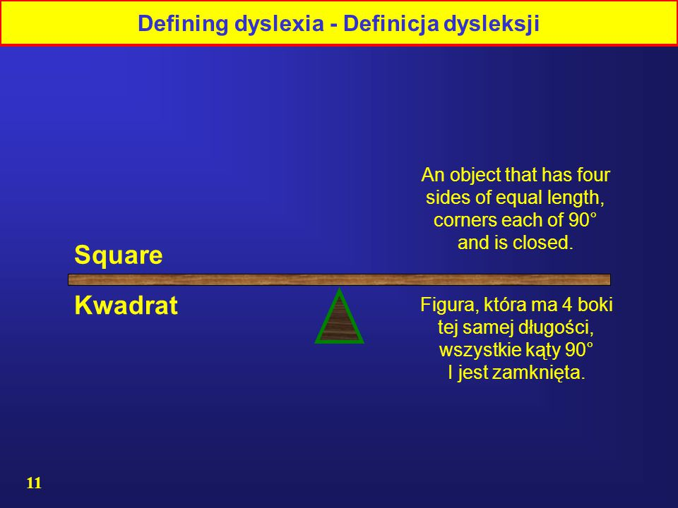 Defining dyslexia - Definicja dysleksji