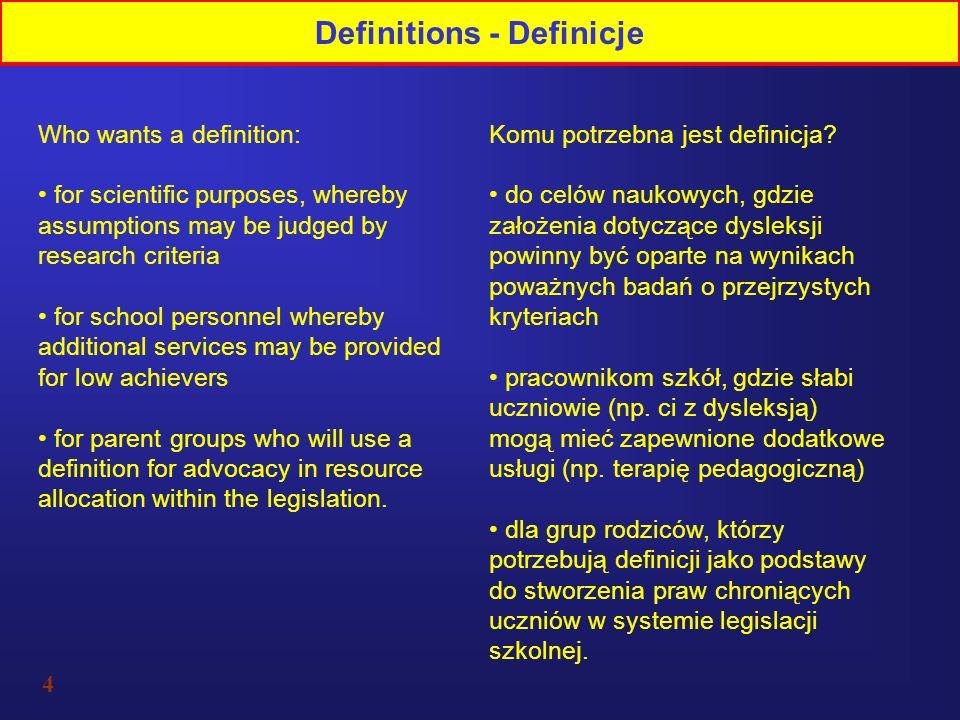 Definitions - Definicje
