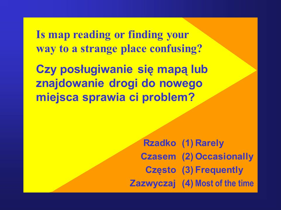 Is map reading or finding your way to a strange place confusing