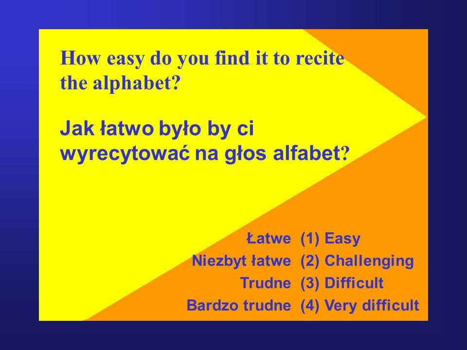 How easy do you find it to recite the alphabet
