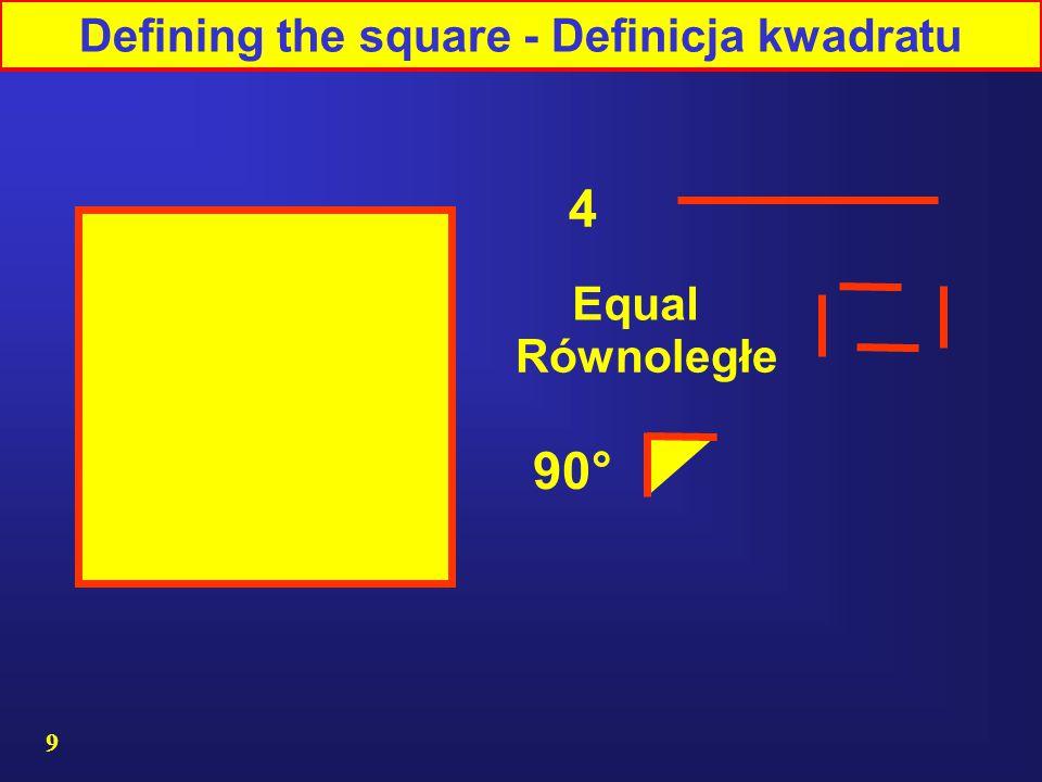 Defining the square - Definicja kwadratu