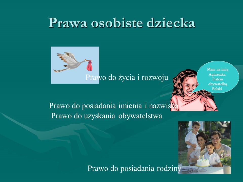Prawa osobiste dziecka