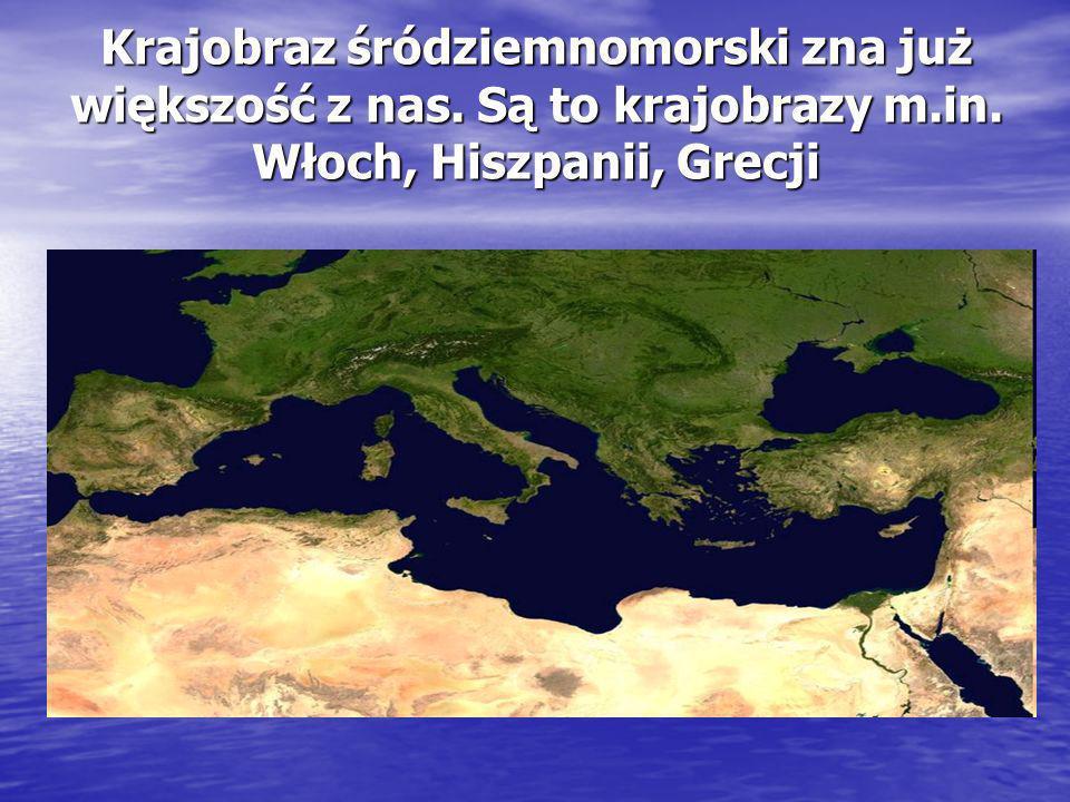 Krajobraz śródziemnomorski zna już większość z nas. Są to krajobrazy m