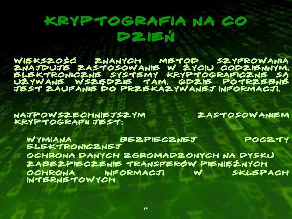 Kryptografia na co dzień