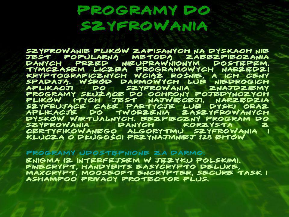 Programy do szyfrowania