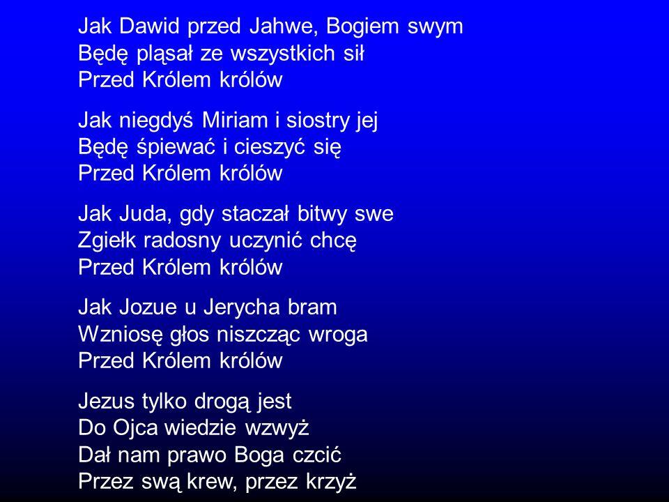 Jak Dawid przed Jahwe, Bogiem swym
