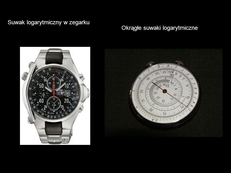 Suwak logarytmiczny w zegarku