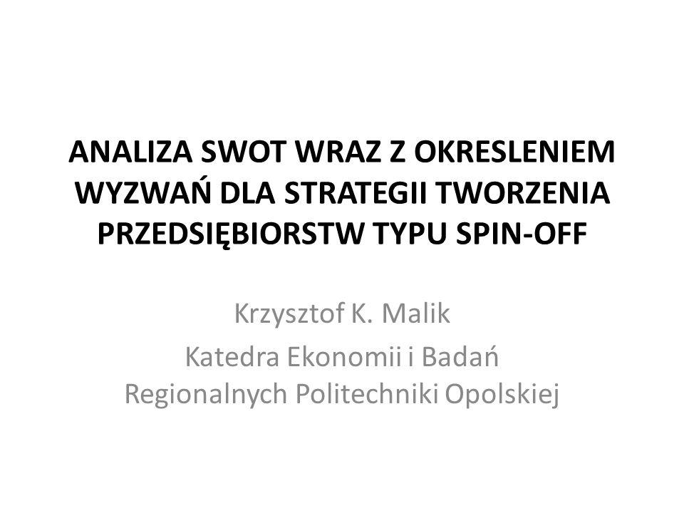 Katedra Ekonomii i Badań Regionalnych Politechniki Opolskiej