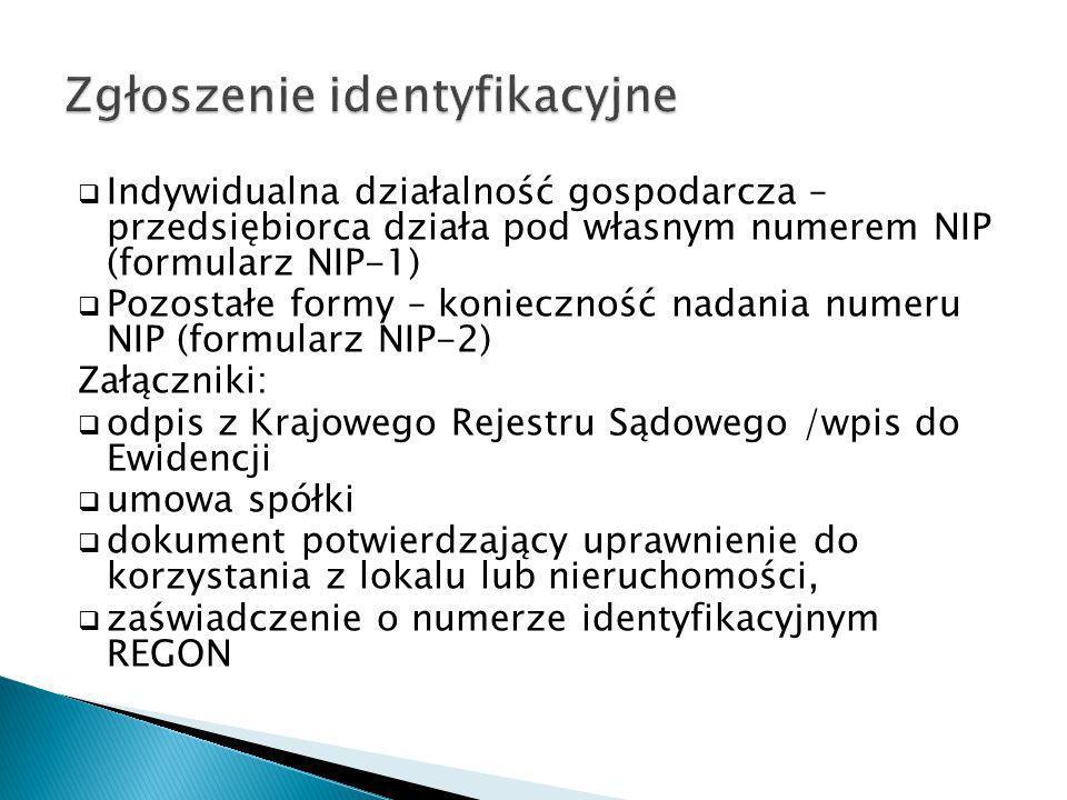 Zgłoszenie identyfikacyjne