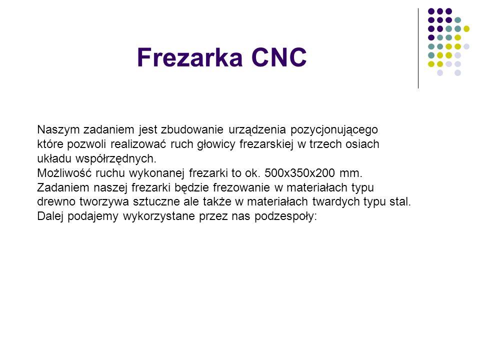 Frezarka CNC Naszym zadaniem jest zbudowanie urządzenia pozycjonującego.