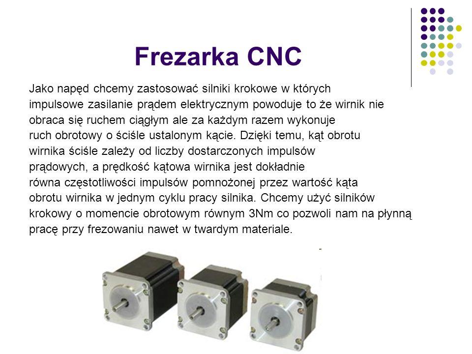 Frezarka CNC Jako napęd chcemy zastosować silniki krokowe w których