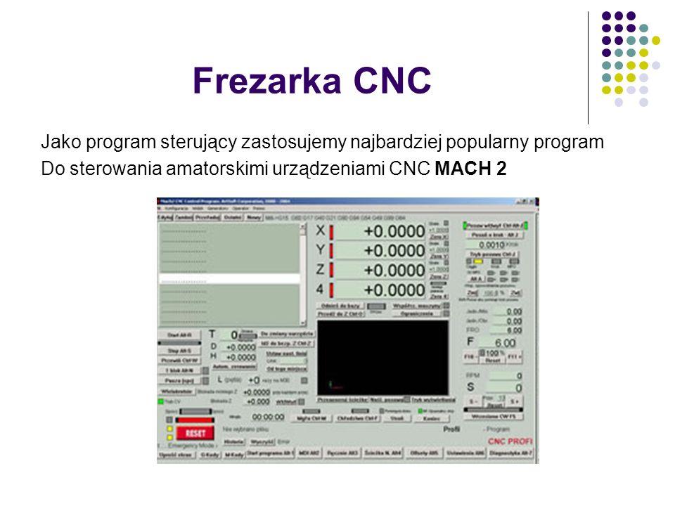 Frezarka CNC Jako program sterujący zastosujemy najbardziej popularny program.
