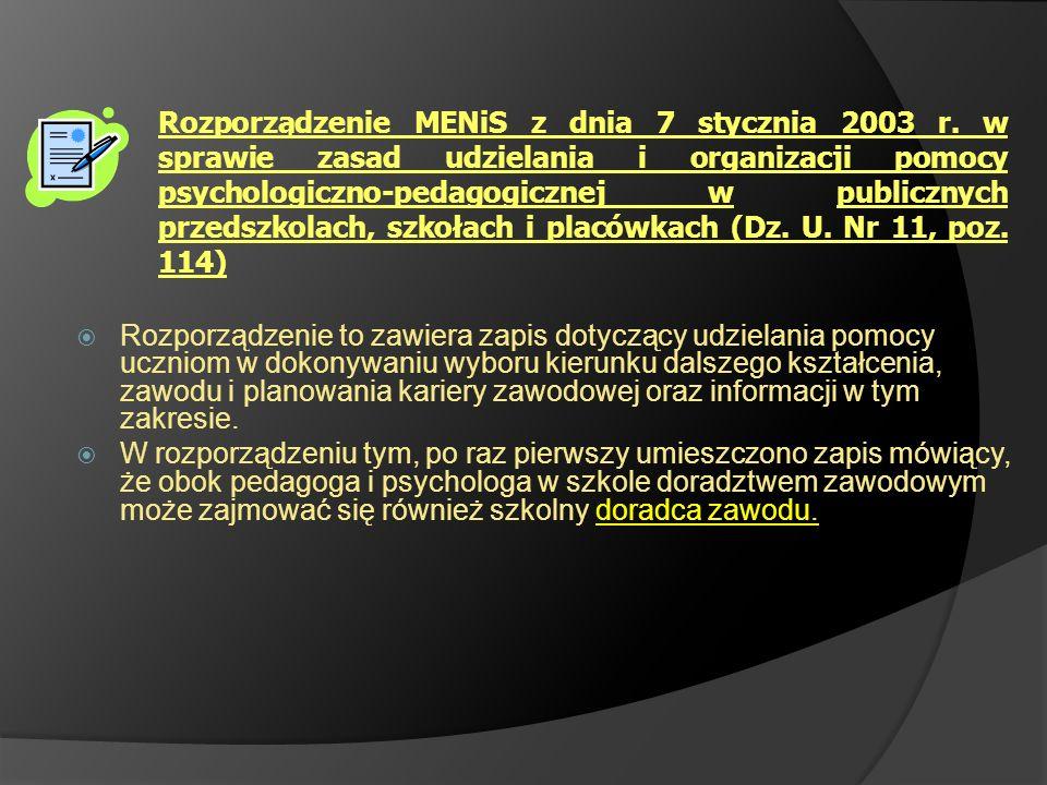Rozporządzenie MENiS z dnia 7 stycznia 2003 r