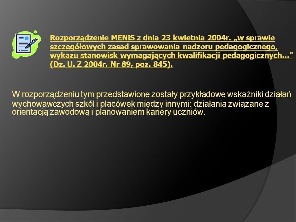 Rozporządzenie MENiS z dnia 23 kwietnia 2004r