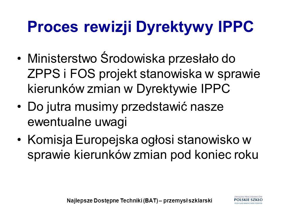 Proces rewizji Dyrektywy IPPC