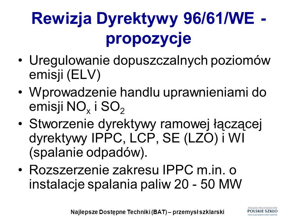 Rewizja Dyrektywy 96/61/WE - propozycje